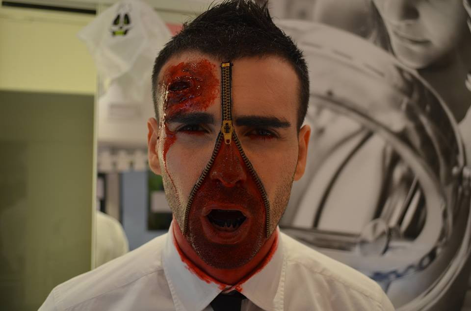 MAKE-UP HALLOWEEN CON EFFETTI SPECIALI .