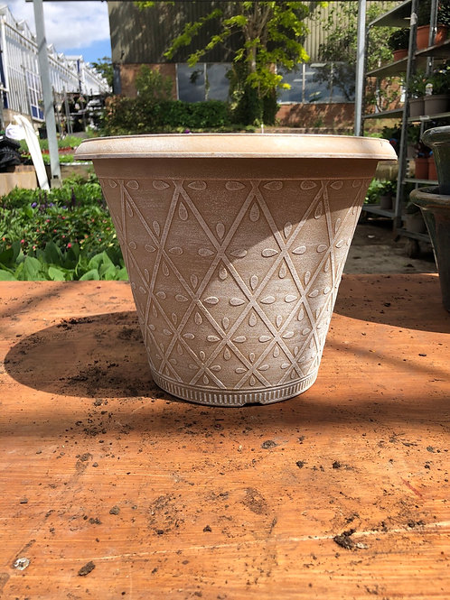 "12"" Prisma planter - Powdered Ginger"