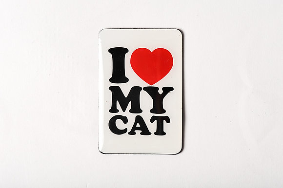 "Magnet ""I love my cat"""