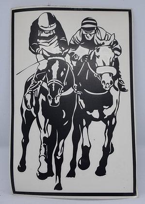 """Aufkleber """"2 Rennpferde"""""""