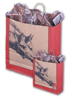 """Papiertragtasche """"Pferd mit Hund"""""""