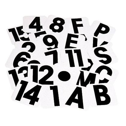 Buchstaben, Nummern