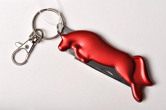 Schlüsselanhänger, Taschenmesser und Hufkratzer