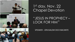 Chapel Day 1