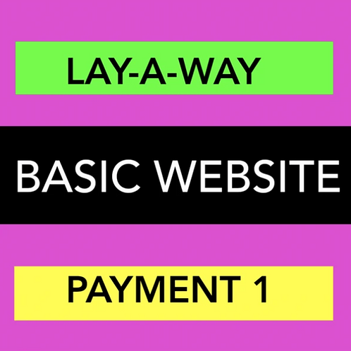 BASIC WEBSITE - LAY-A-WAY PAYMENT 1