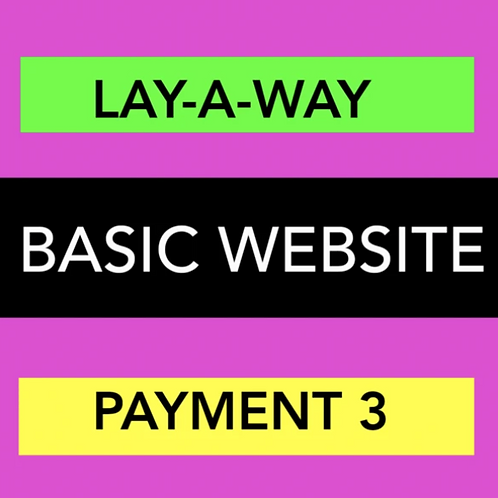 BASIC WEBSITE LAY-A-WAY PAYMENT3