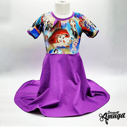 Robe princesse mauve
