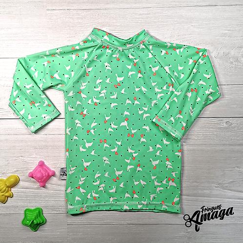 Maillot de bain oiseau vert