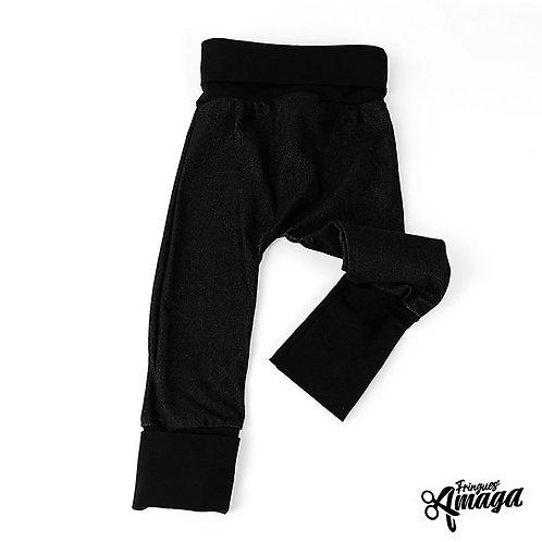 Pantalon effet jean noir