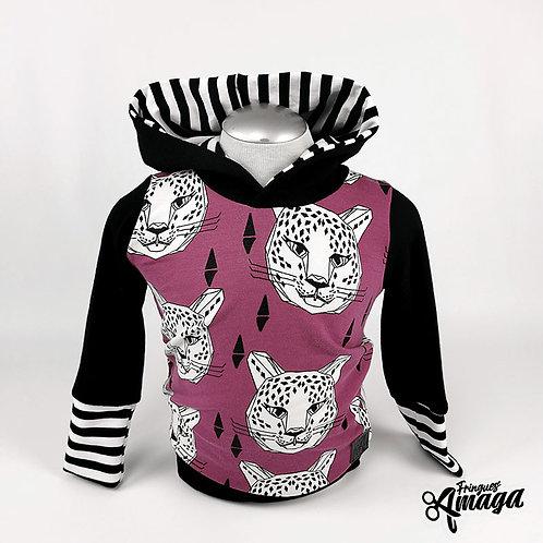 Hoodie léopard rayez