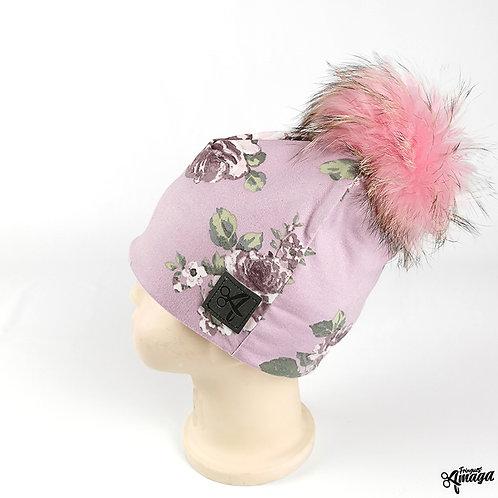 Tuque Fleur lilas