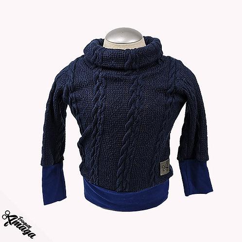 Tricot de laine Bleu