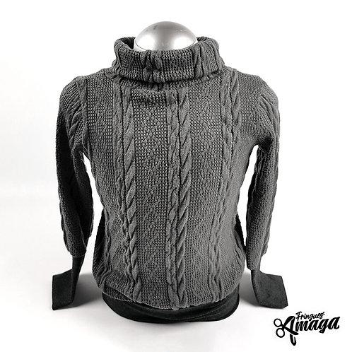 Tricot de laine gris