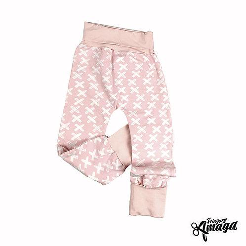 Pantalon croix rose