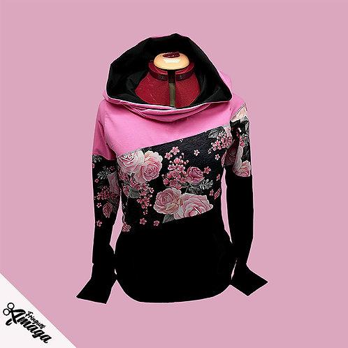 Hoodies Femme rose rose floral