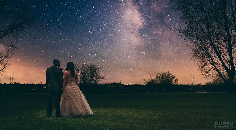 night wedding picture