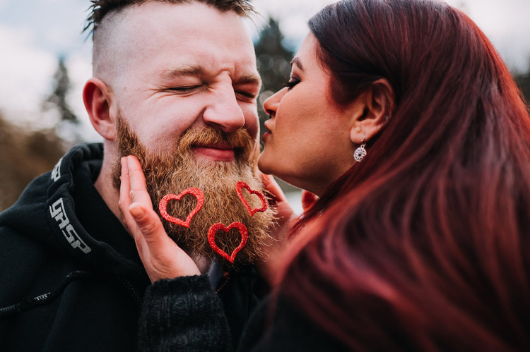Vancouver-engaged-couple-kissing-nose-wi