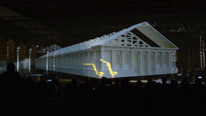 Multimedia show with robots in the Manege