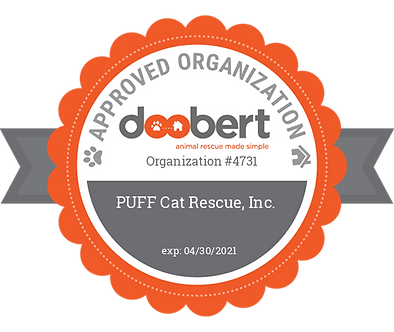 Doobert Approved Organization badge for PUFF Cat Rescue Inc