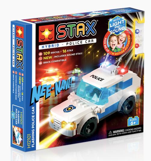 STAX - H12101 - Hybrid Coche de Policia (Luz+Sonido)