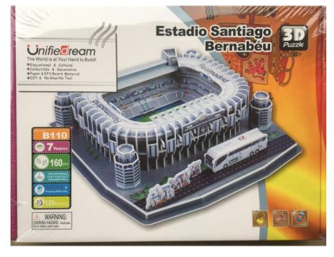 Puzzle 3D - B110 - Estadio Santiago Bernabéu