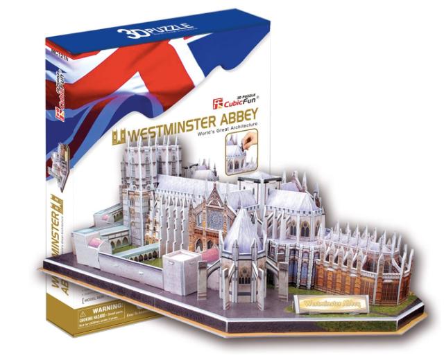 Puzzle 3D - CubicFun MC121h - Westminster Abbey