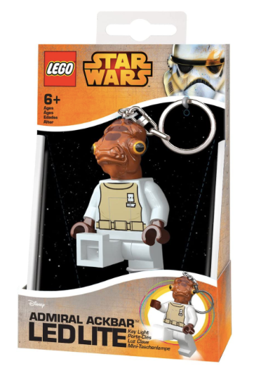LEGO Star Wars - LED LITE - Llavero con luz - Admiral Ackbar