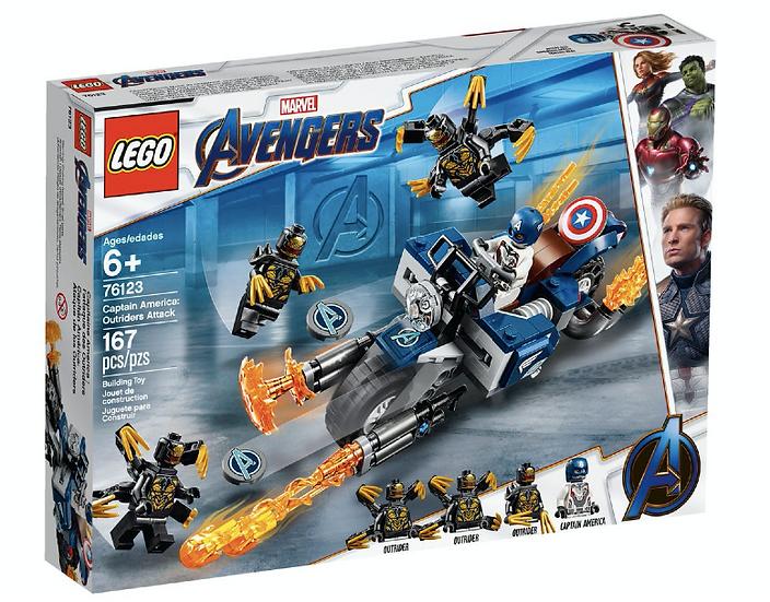 LEGO 76123 - Capitán América: Ataque de los Outriders