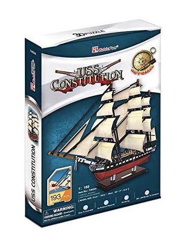 Puzzle 3D - CubicFun T4024 - USS Constitution