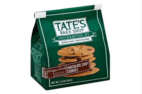 Tates, Chocolate Chip Cookies, 12 ct.