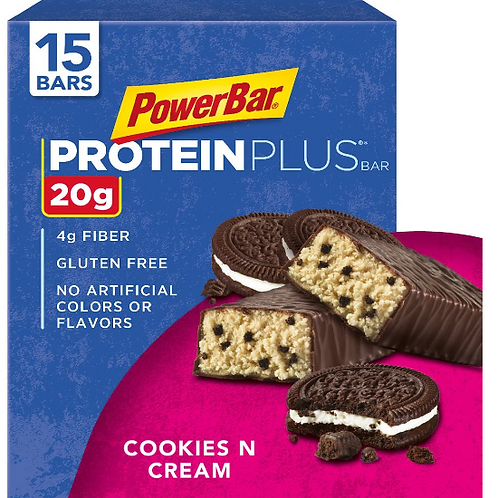 Power Bar, Protein Plus, Assorted Flavors, 15 ct.