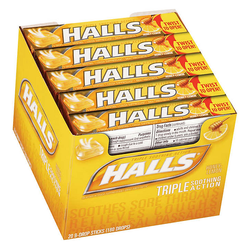 _Halls Cough Drops, Lemon, 20 ct.