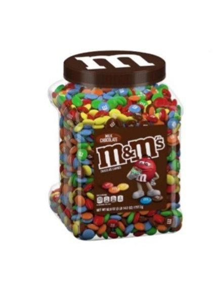 _ M&M Milk Chocolate Candies Jar, 3 lb.