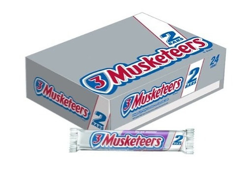 Three Musketeers, Chocolate Candy Bars, 24 ct.
