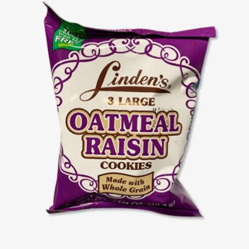 Linden's Cookies, Oatmeal Raisin, 18 x 2oz