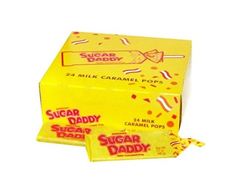 Sugar Daddy, Milk Caramel Pops, 24 ct.