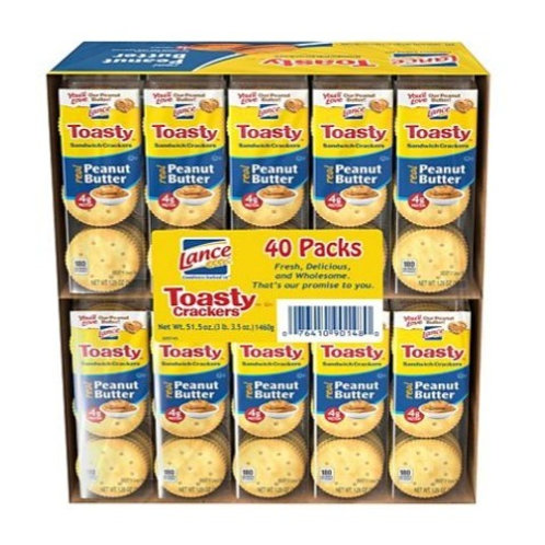 _Lance, Toasty Peanut Butter Crackers, 40 ct.