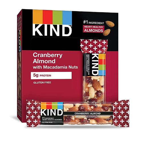 _Kind Bars; Cranberry Almond, 12 ct.