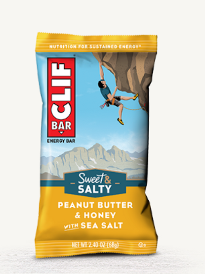 Clif Bars, Organic, Peanut Butter & Honey, 12 ct.