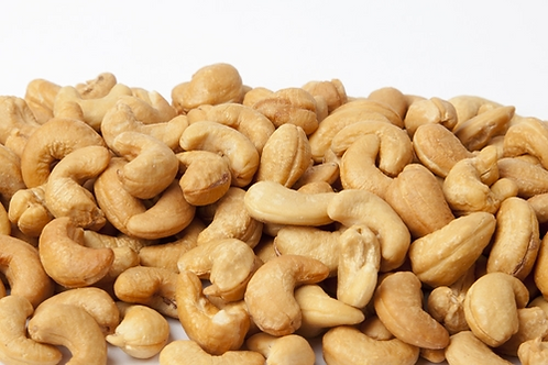 Cashews, Roasted, Salted, 5 lb.
