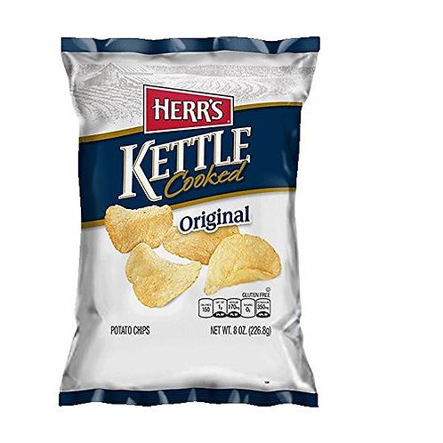 Herr's Kettle Potato Chips, Original, 12 ct.