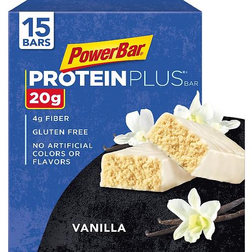 Power Bar, Protein Plus; Vanilla, 15 ct.