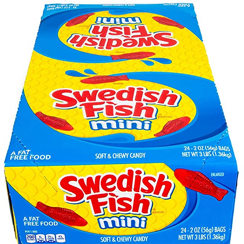 _Swedish Fish Candy, Mini bags, 24 ct.
