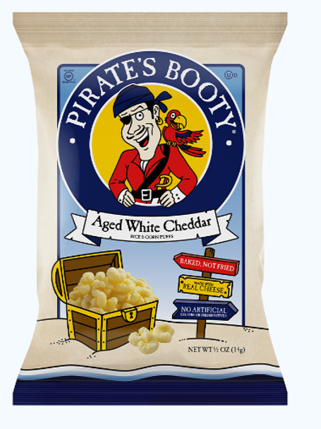 Pirate's Booty, Aged White Cheddar Snacks, 36 ct.