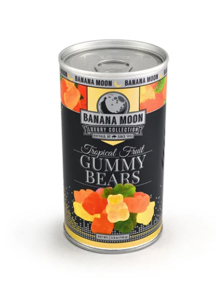 _Banana Moon, Tropical Fruit Gummy Bears, 48 ct