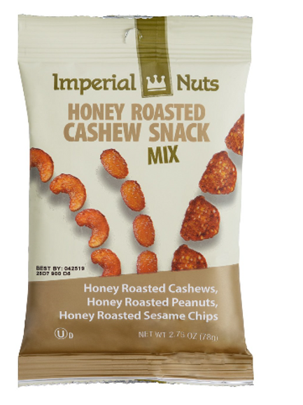 Imperial Nuts Blends; Honey Roasted Cashew, 18 ct.