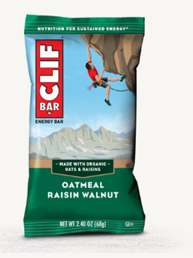 Clif Bars, Organic, Oatmeal Raisin Walnut, 12 ct.