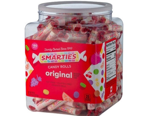 _Smarties, Candy Rolls, 180 ct.