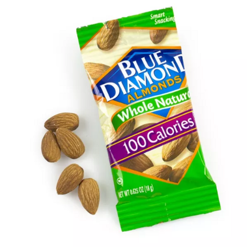 _Blue Diamond, Whole Natural Almonds, 100-Calorie Packs, 32 ct.