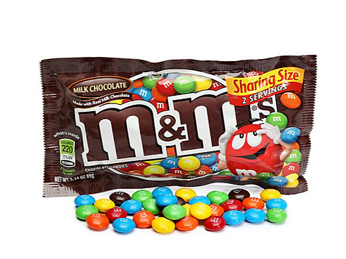 _M&M's Milk Chocolate Candy, 24 ct.